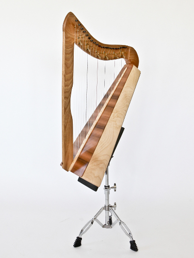 A customised 21 string harp