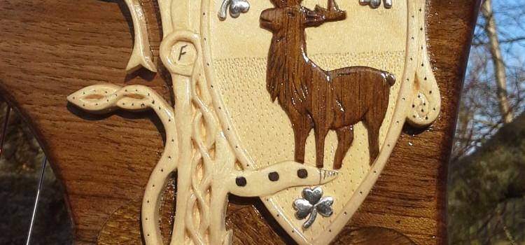 Callan 34 string Harp in Irish Walnut with Custom carving