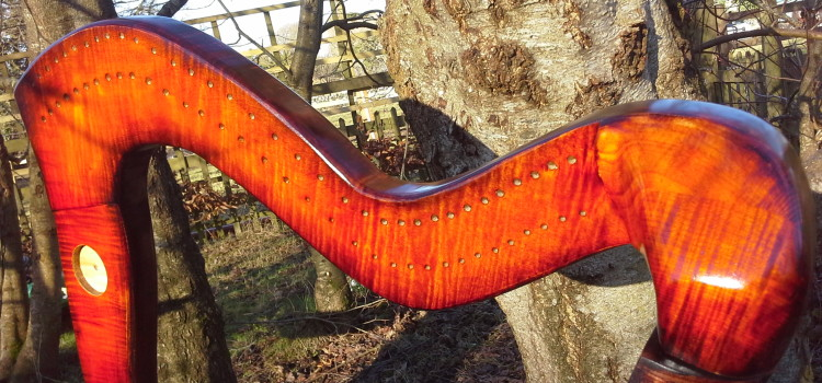 Custom Coloured Callan 34 string Harp